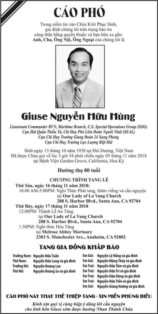 Hq Thiếu Ta Nguyễn Hữu Hung